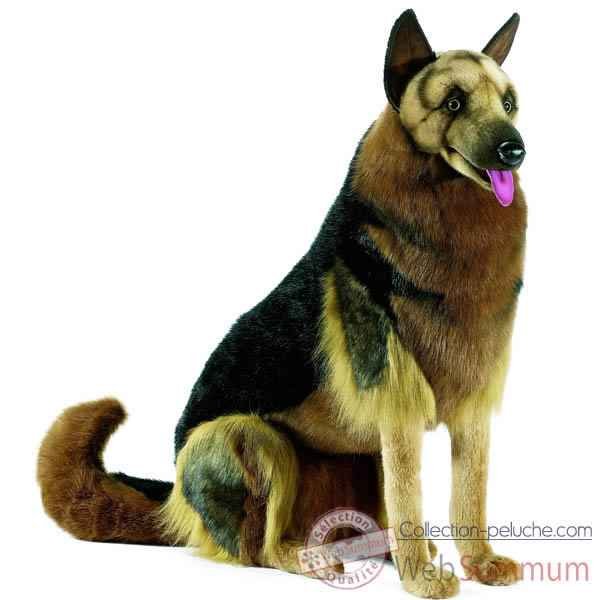 Anima - Peluche berger allemand assis 85 cm -9502