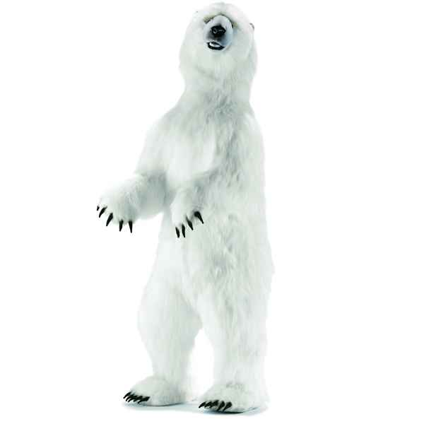 Anima - Peluche ours polaire dresse 190 cm -4014
