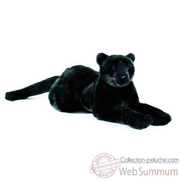 Anima - Peluche panthere noire couchee 50 cm -1621