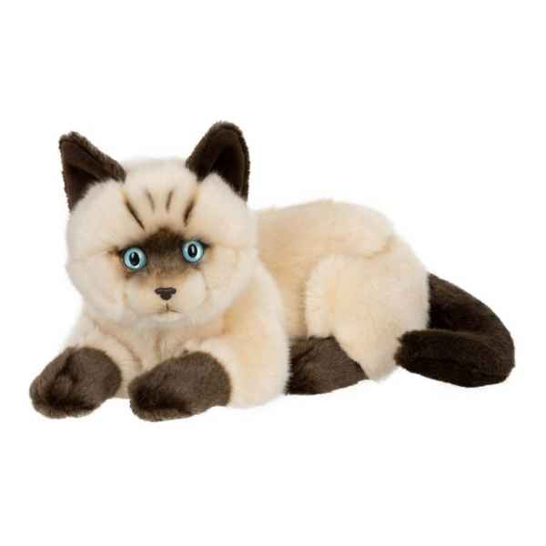 Peluche anna club plush chat siamois couche - 25 cm ACP -28179013