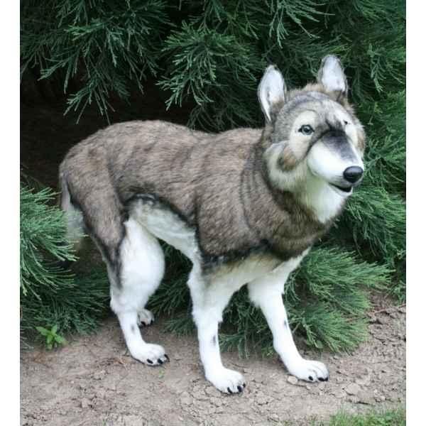 peluche geante loup blanc
