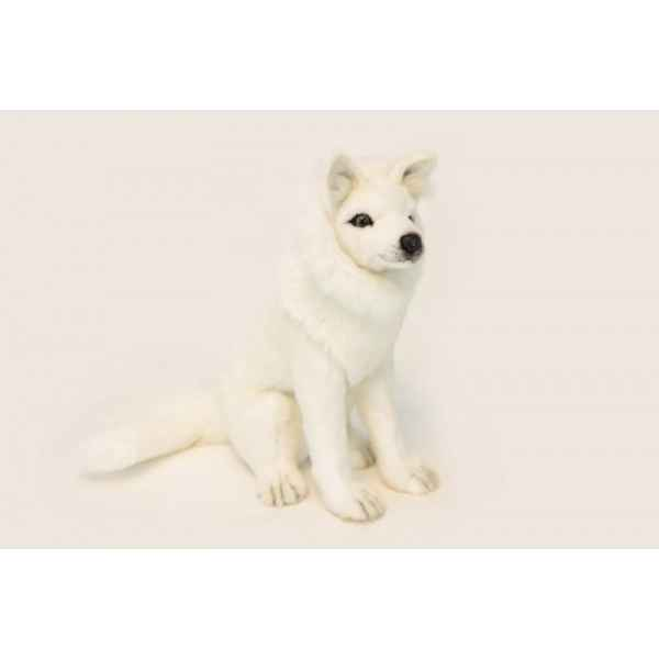 Loup blanc assis Anima -6320