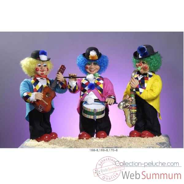 Automate - clown jouant des percussions Automate Decoration Noel 168-B