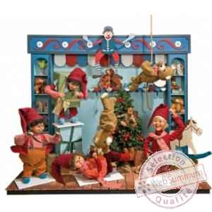 Decor anime - l'entrepot de jouets du pere noel Automate Decoration Noel 155-K