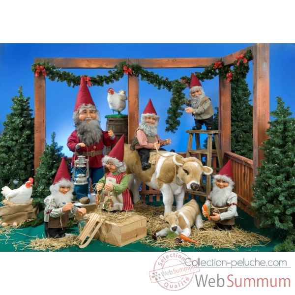 Decor - l'etable du pere noel Automate Decoration Noel 116-K