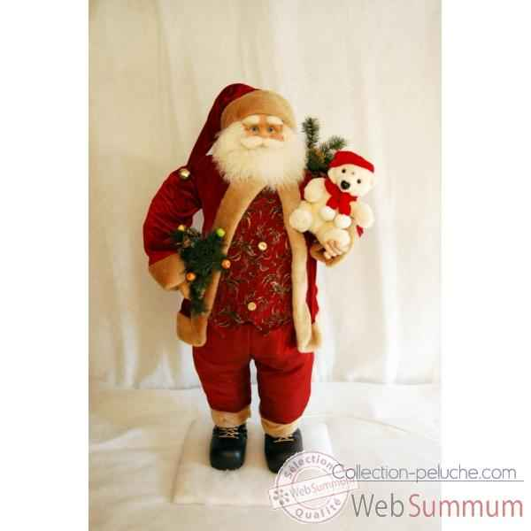 Automate de noel collection peluche for Pere noel decoration interieur