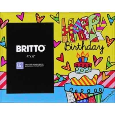 Cadre happy birthday Britto Romero -B333184