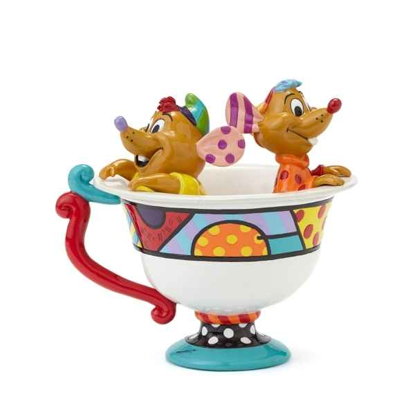 Figurine disney by britto jaq and gus in tea cup figurine * Britto Romero -4044110