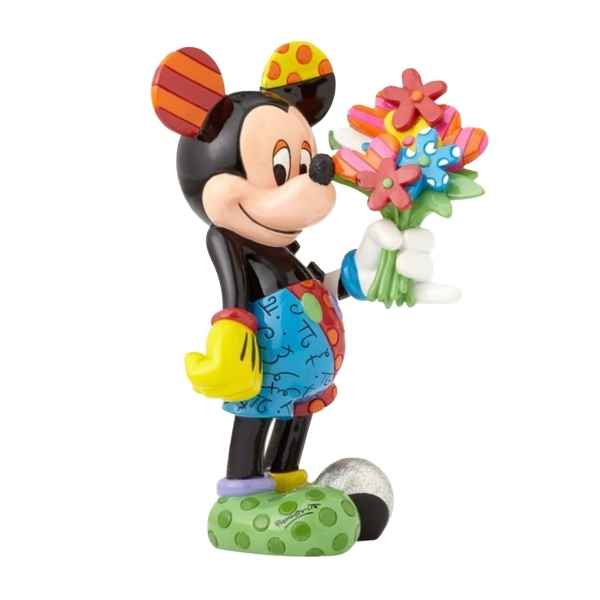 Figurine disney by britto mickey mouse with flowers figurines Britto Romero -4058180