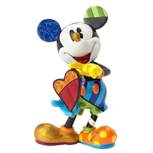 Figurine disney by britto mickey with rotating heart Britto Romero -4052551