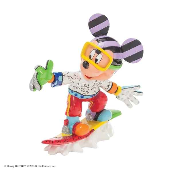 Figurine disney by britto snowboarding mickey Britto Romero -4046361