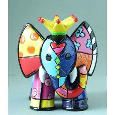 Mini figurine elephant roi jaune king britto romero -b334445