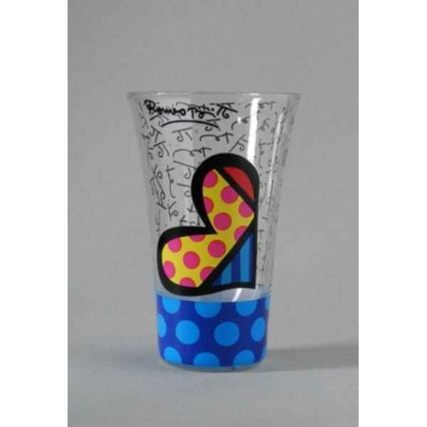 Verre shot - hearts stripes blue Britto Romero -B331650