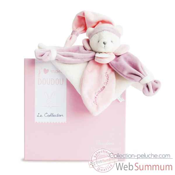 Peluche collector ours rose Doudou et Compagnie -DC2920