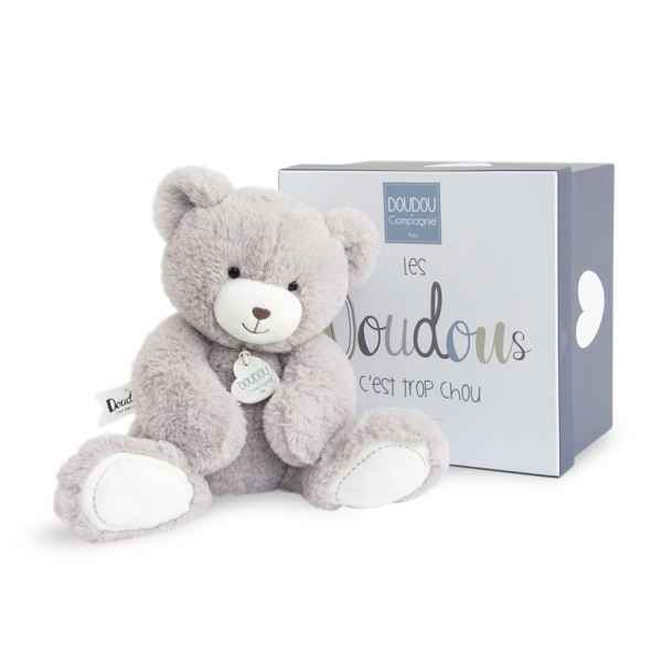 Peluche unicef - ours taupe mm Doudou et Compagnie -DC3245