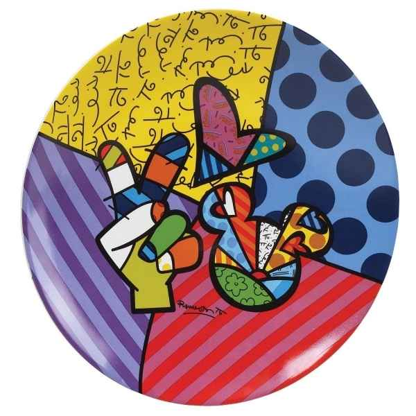 Assiette Peace & love mickey n Britto Romero -4024503