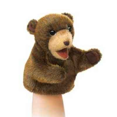 marionnette peluche petit ours brun assise folkmanis 2926 dans marionnette peluche ours de. Black Bedroom Furniture Sets. Home Design Ideas