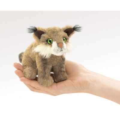Marionnette a doigt mini peluche chat sauvage folkmanis 2740