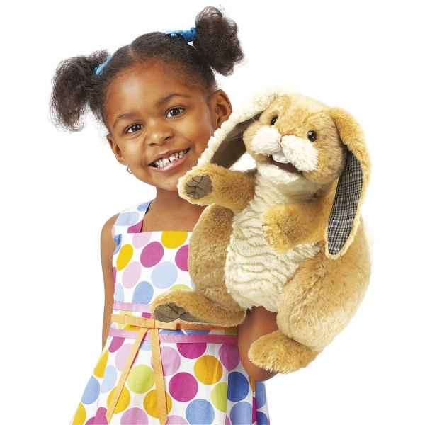 Marionnette Peluche Lapin Patchwork Folkmanis -2948