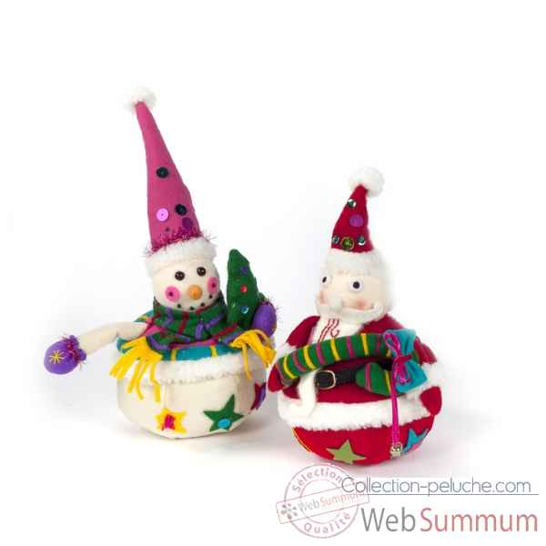 Lot de 2 boule pere noel 28-36cm -DO 40131