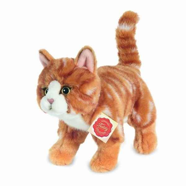 Peluche Chat debout tigre rouge Hermann Teddy collection 20cm 90682 7
