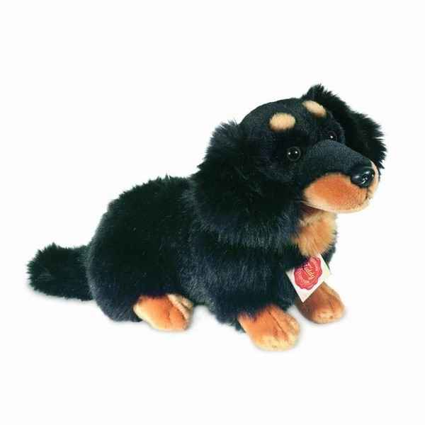 Peluche Chien teckel noir Hermann Teddy collection 28cm 92753 2