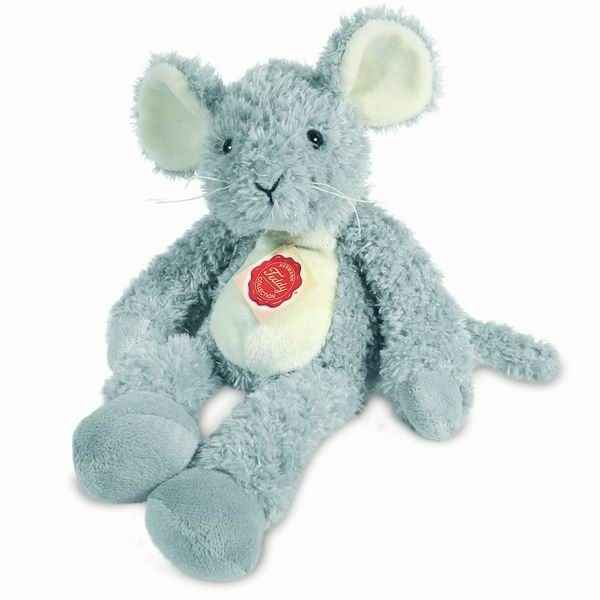 Peluche Souris pantin gris Hermann Teddy collection 32cm 94624 3