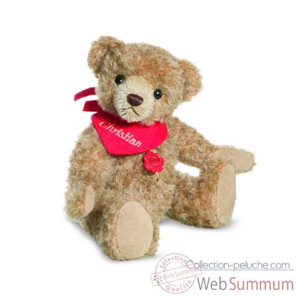 Ours Teddy Bear 22 cm bandana rouge Hermann -12019 3