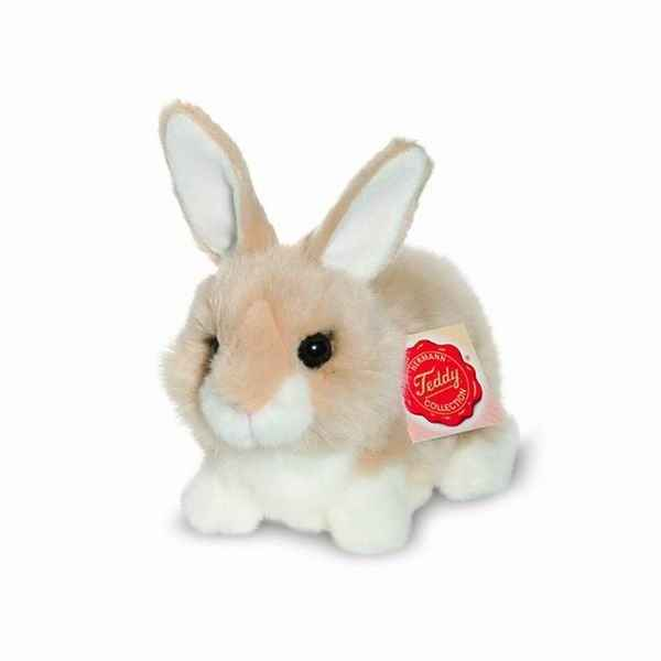 Lapin assis beige 15 cm hermann -93767 8