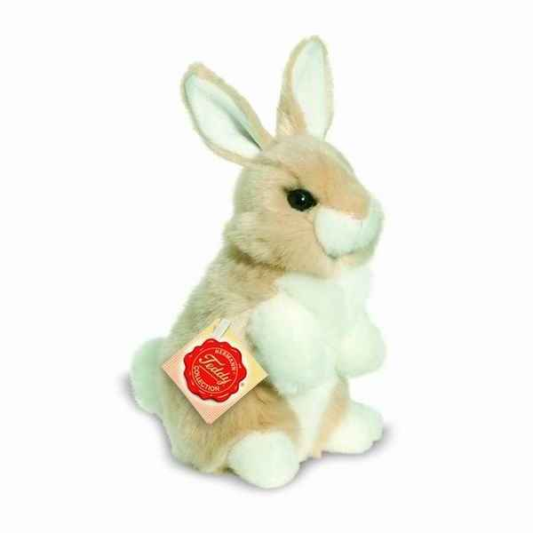 Lapin assis beige 16 cm hermann -93770 8
