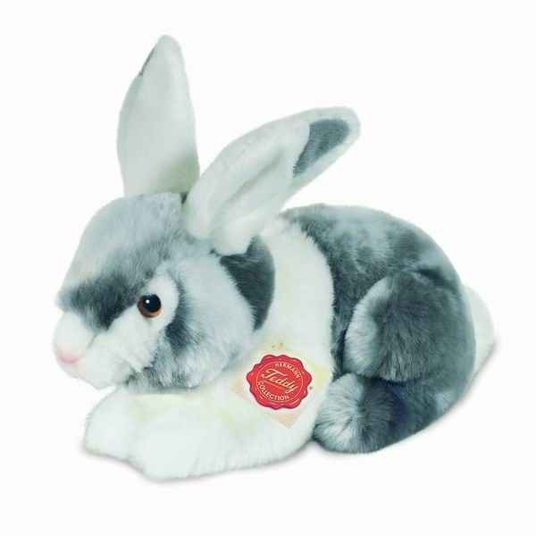 Peluche Lapin assis gris Hermann Teddy collection 22cm 93751 7