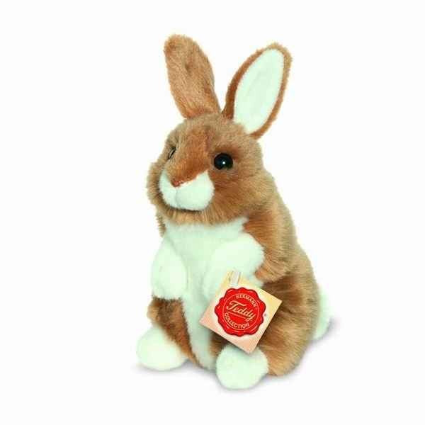 Lapin assis marron 16 cm hermann -93771 5