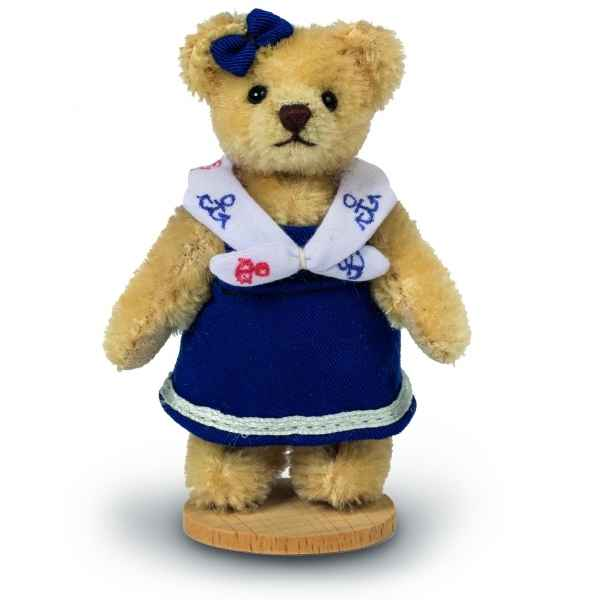 Mini peluche de collection ours fille marin 10 cm ed. limitee Hermann -15485 3