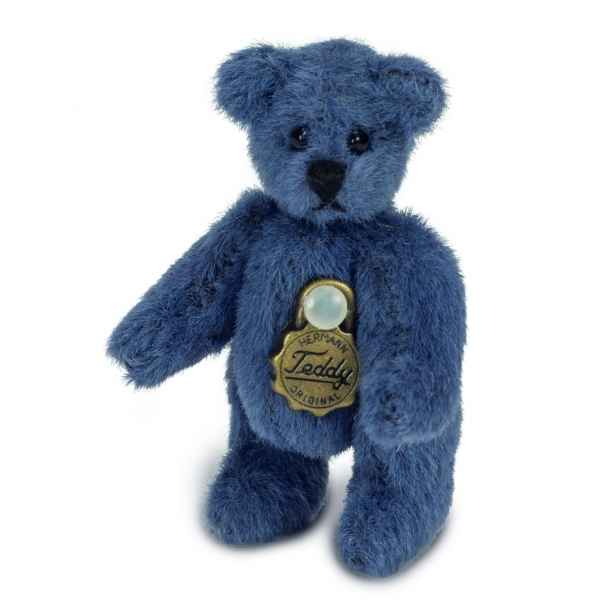 Mini peluche de collection ours teddy bleu 4 cm Hermann -15446 4
