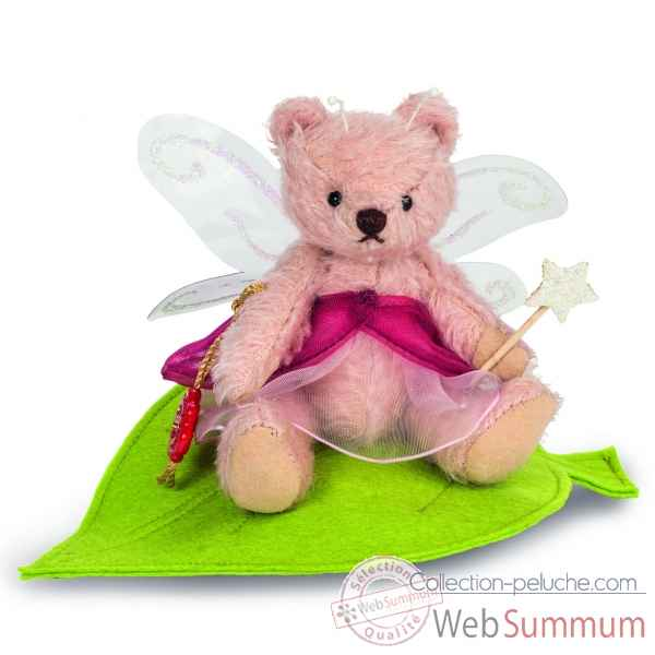 Mini peluche elfe rosa 13 cm collection - ed. limitee Hermann -11760 5