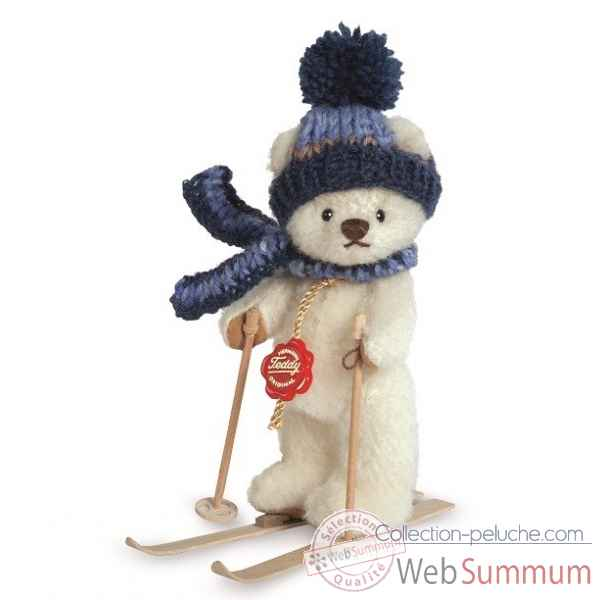 Mini peluche ours skieur 15 cm collection - ed. limitee Hermann -11710 0