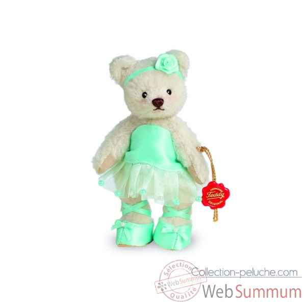 Ours en peluche de collection ballerine turquoise 13 cm hermann -11705 6