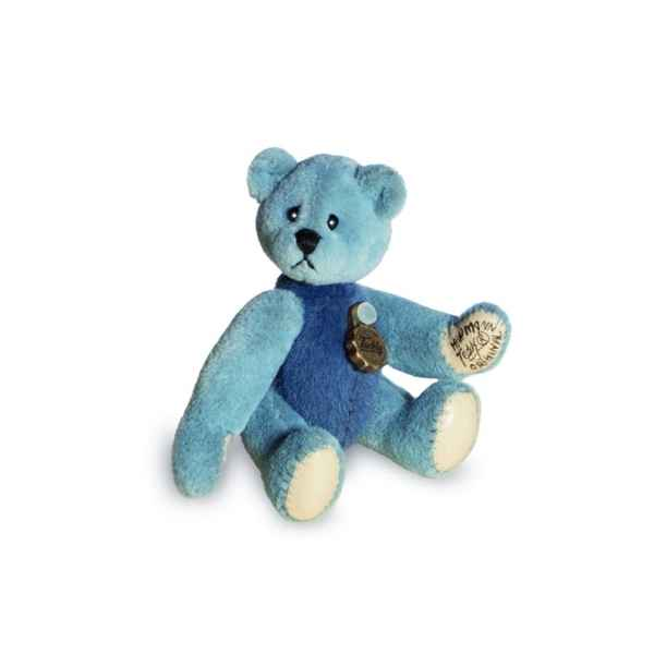 Ours en peluche de collection bleu et bleu clair 5,5 cm hermann -15432 7