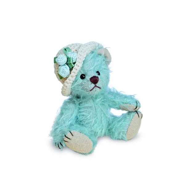 Ours en peluche de collection bluebell 9 cm hermann -15494 5
