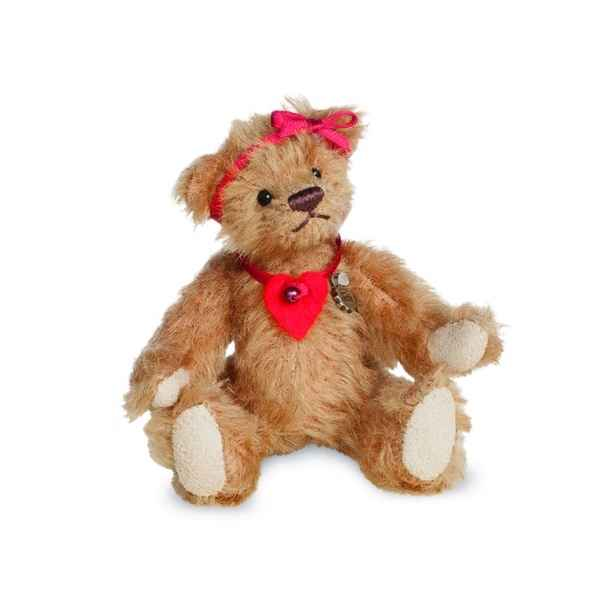 Ours en peluche de collection ella 11 cm hermann -15486 0