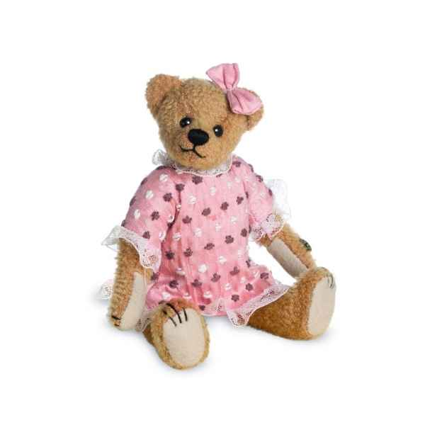Ours en peluche de collection evelyn 16 cm hermann -15086 2