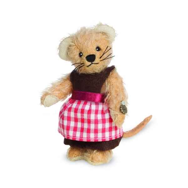Ours en peluche de collection fille souris 10 cm hermann -15490 7