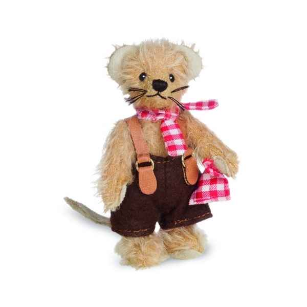 Ours en peluche de collection garcon souris 10 cm hermann -15491 4