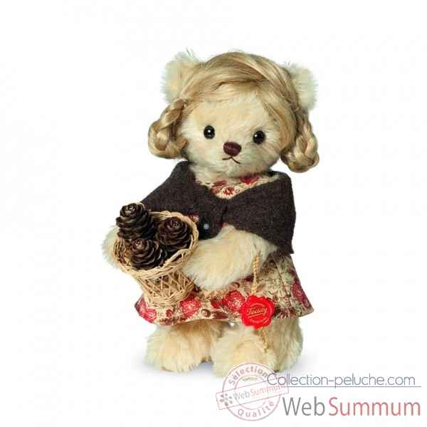 Ours en peluche de collection liesl 17 cm hermann -11700 1