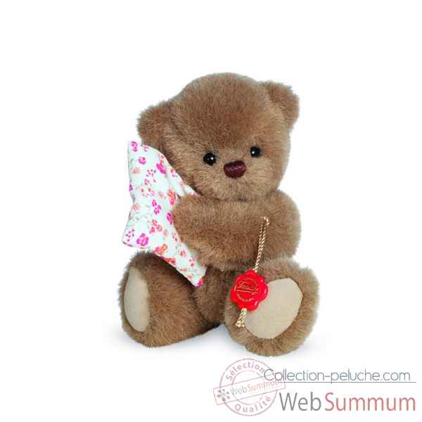 Ours en peluche de collection michi avec oreiller 16 cm hermann -17072 3