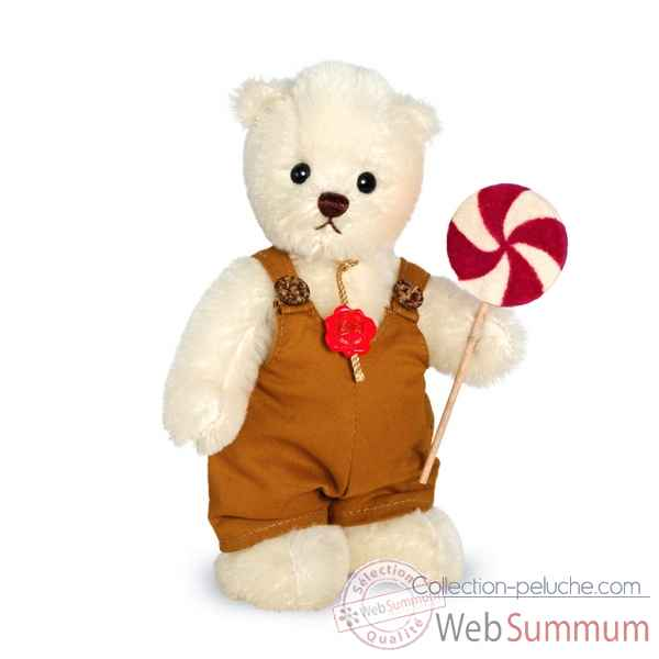Ours en peluche de collection niklas 20 cm hermann -11730 8