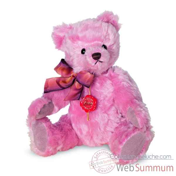 Ours en peluche de collection nostalgie rose 27 cm hermann -16902 4
