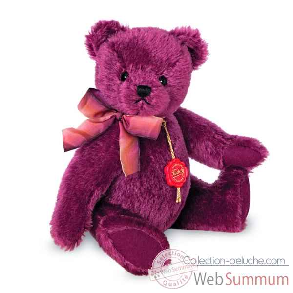 Ours en peluche de collection nostalgie violet 27 cm hermann -16904 8