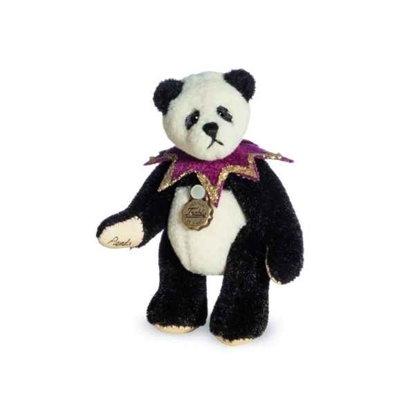 Ours en peluche de collection panda pierrot 6 cm hermann -15434 1