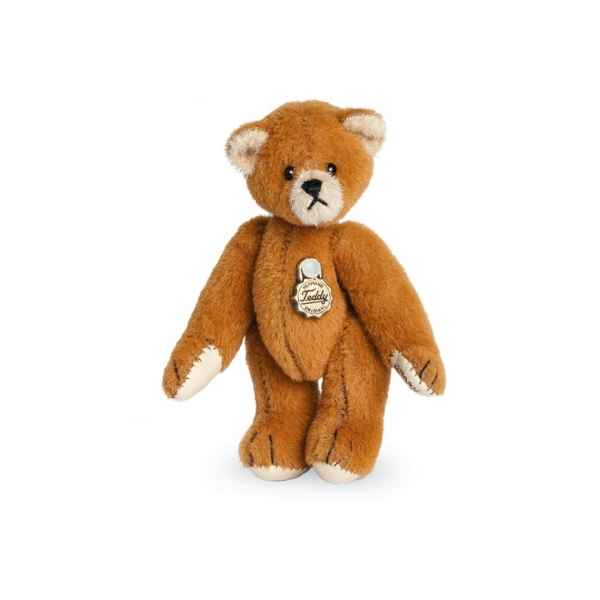 Ours en peluche de collection teddy brun dore 6 cm hermann -15415 0